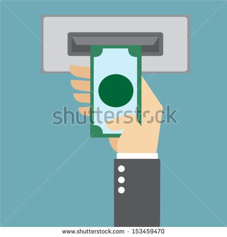 ATM Money Clip Art.