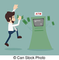 Withdraw money Vector Clipart EPS Images. 692 Withdraw money clip.