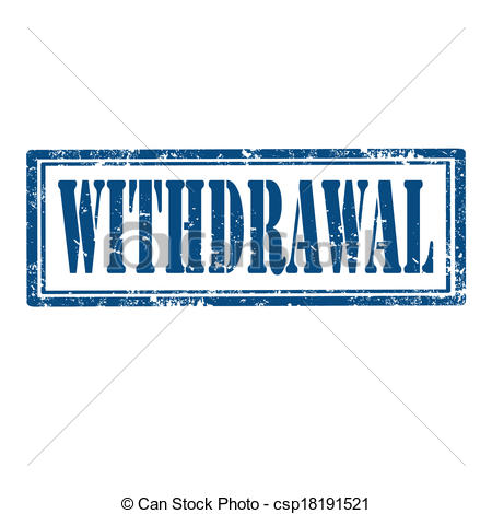 Withdrawal Clip Art.