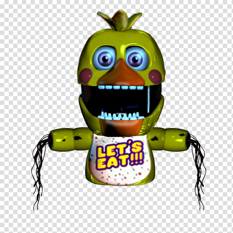 Puppet Withered Chica transparent background PNG clipart.