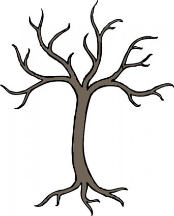 Withered tree clipart.