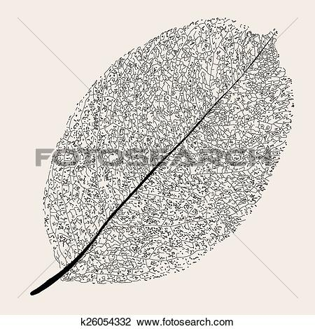 Clipart of Withered leaf. k26054332.