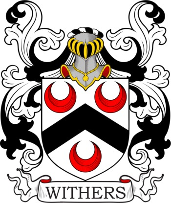 Withers Coat of Arms Meanings and Family Crest Artwork.