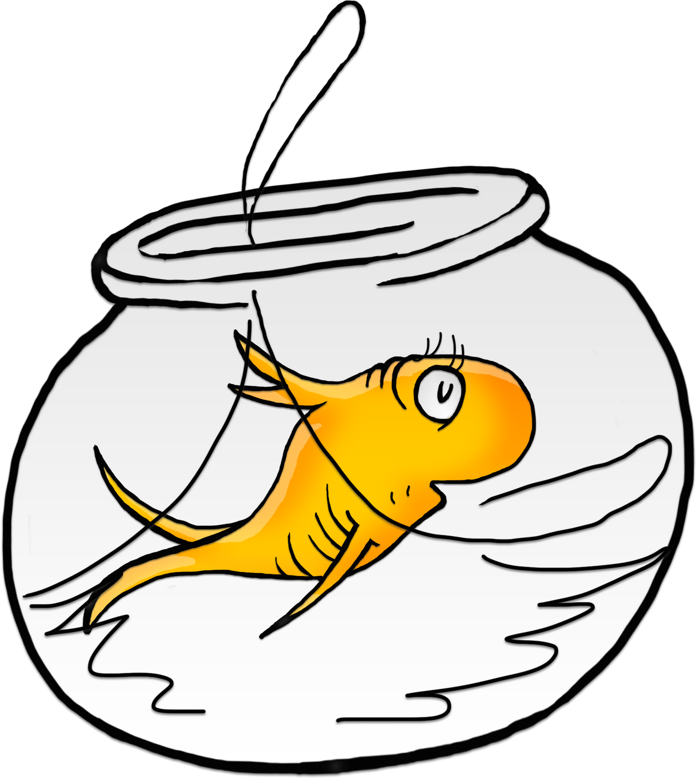 Clip Art Of Black And White One Fish Two Fish Red Fish Blue Fish.