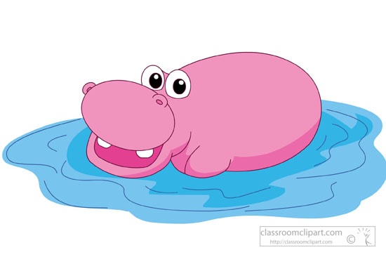 Hippo Clipart : large.