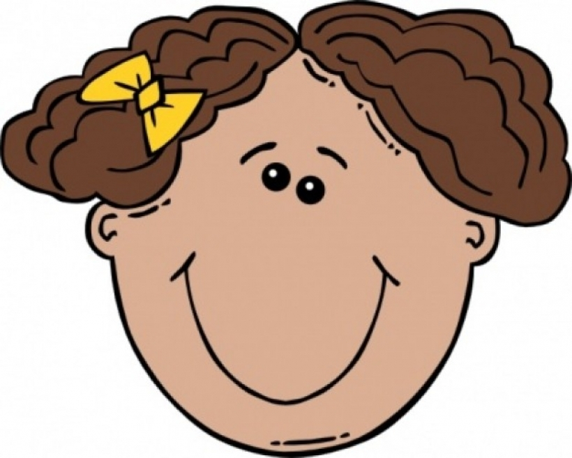 Face without nose clipart.