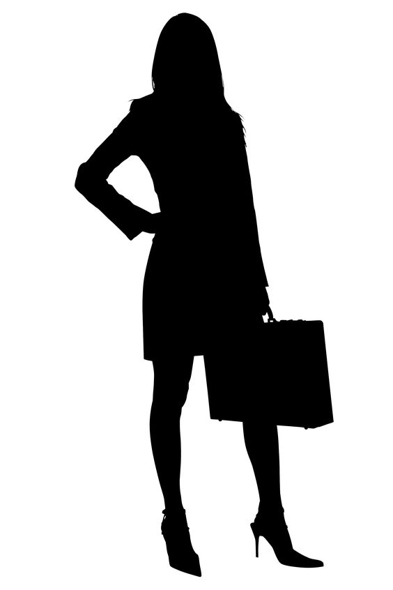 Confidence silhouette clipart.