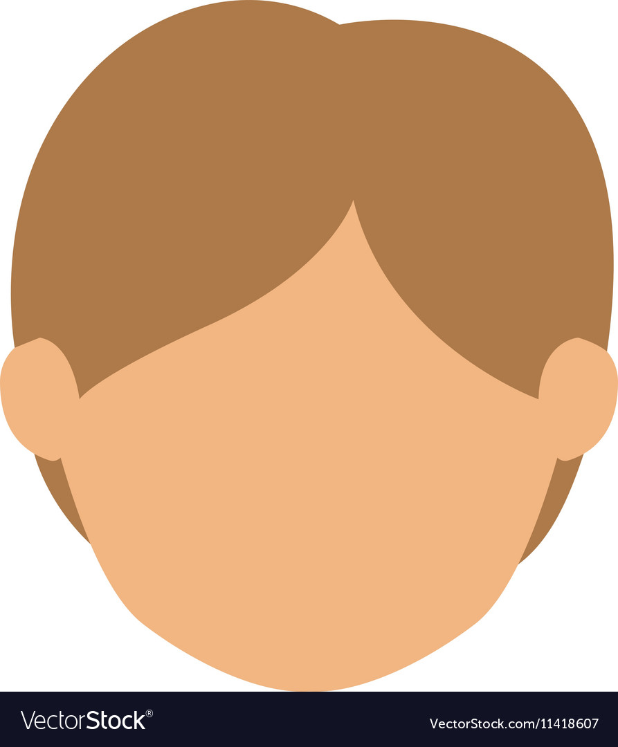 Head man with light hair without face.
