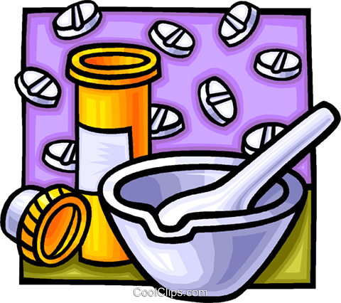 mortar and pestle Royalty Free Vector Clip Art illustration.