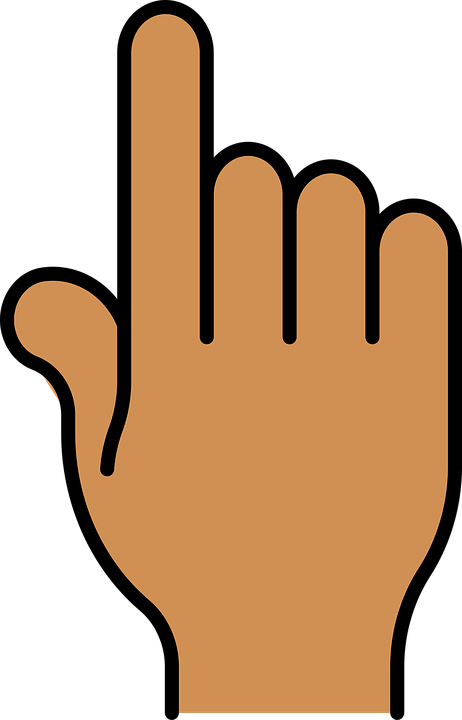 Free vector graphic: Index Finger, Pointer, Click, Hand.