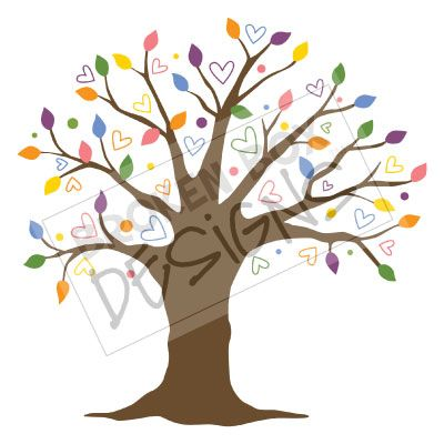 Tree no leaves heart clipart.