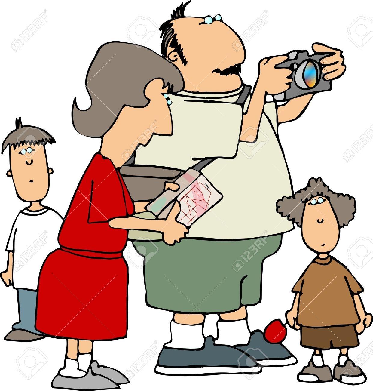 Tourists Clipart.