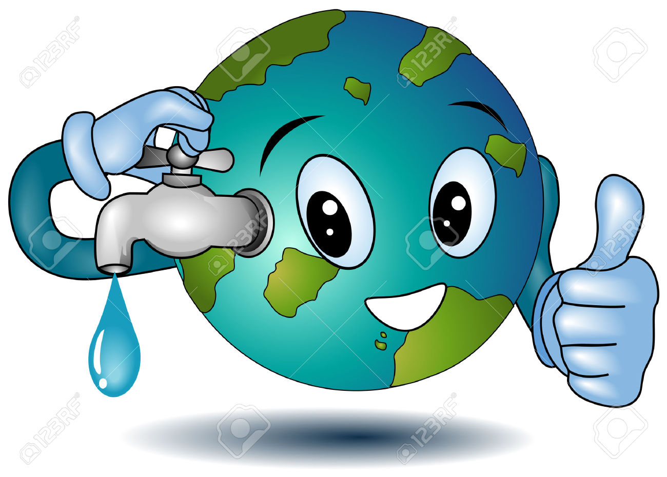 World without water clipart.