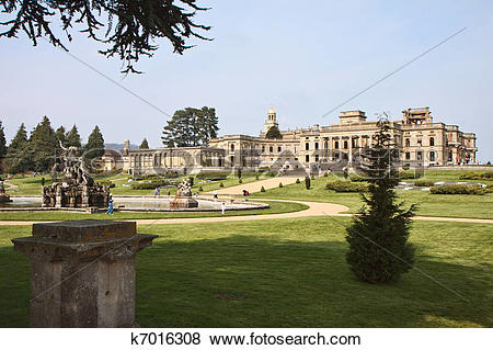 Pictures of Witley Court ruins formal gardens and classical.