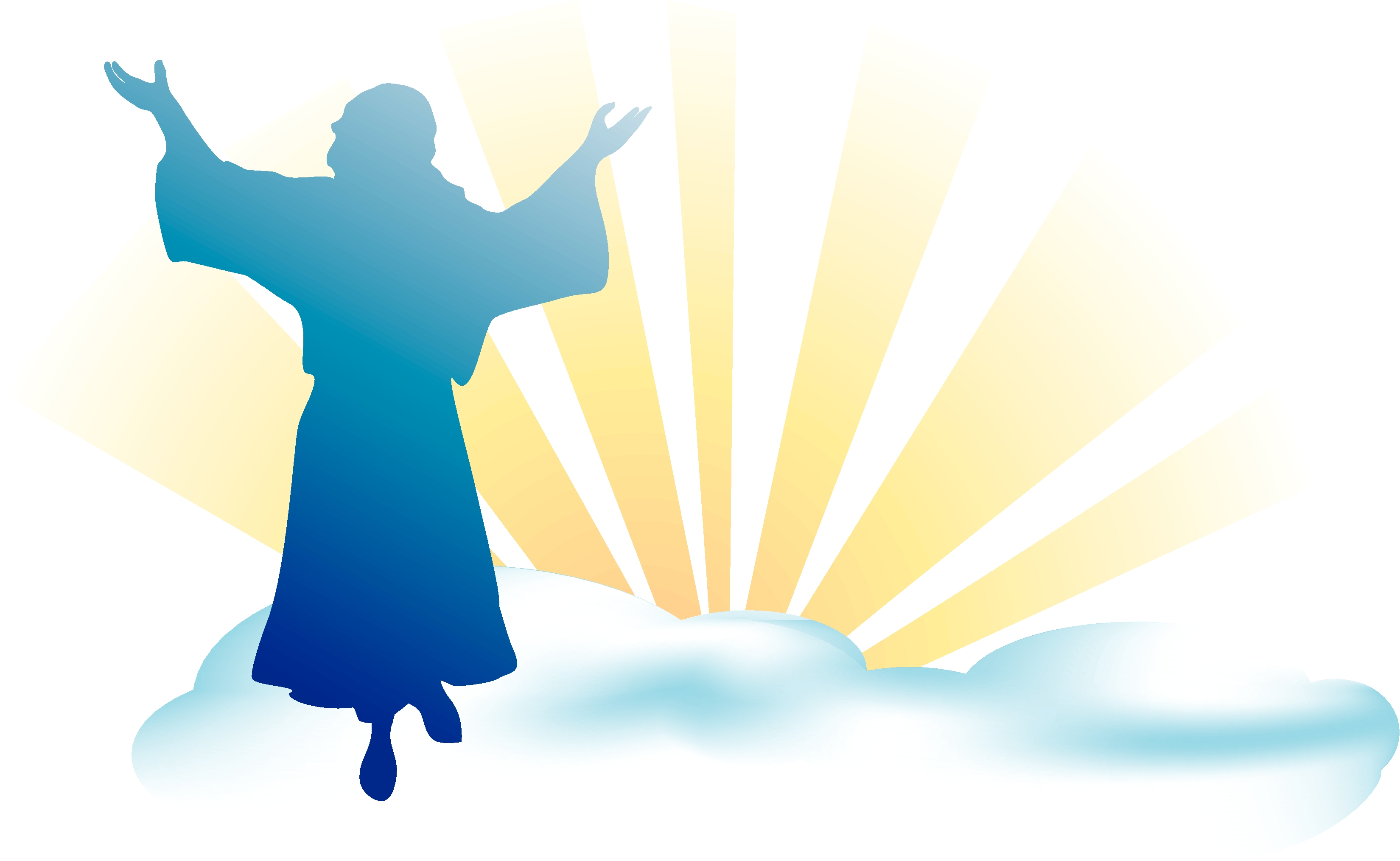 Shout it jesus is lord mountain clipart.