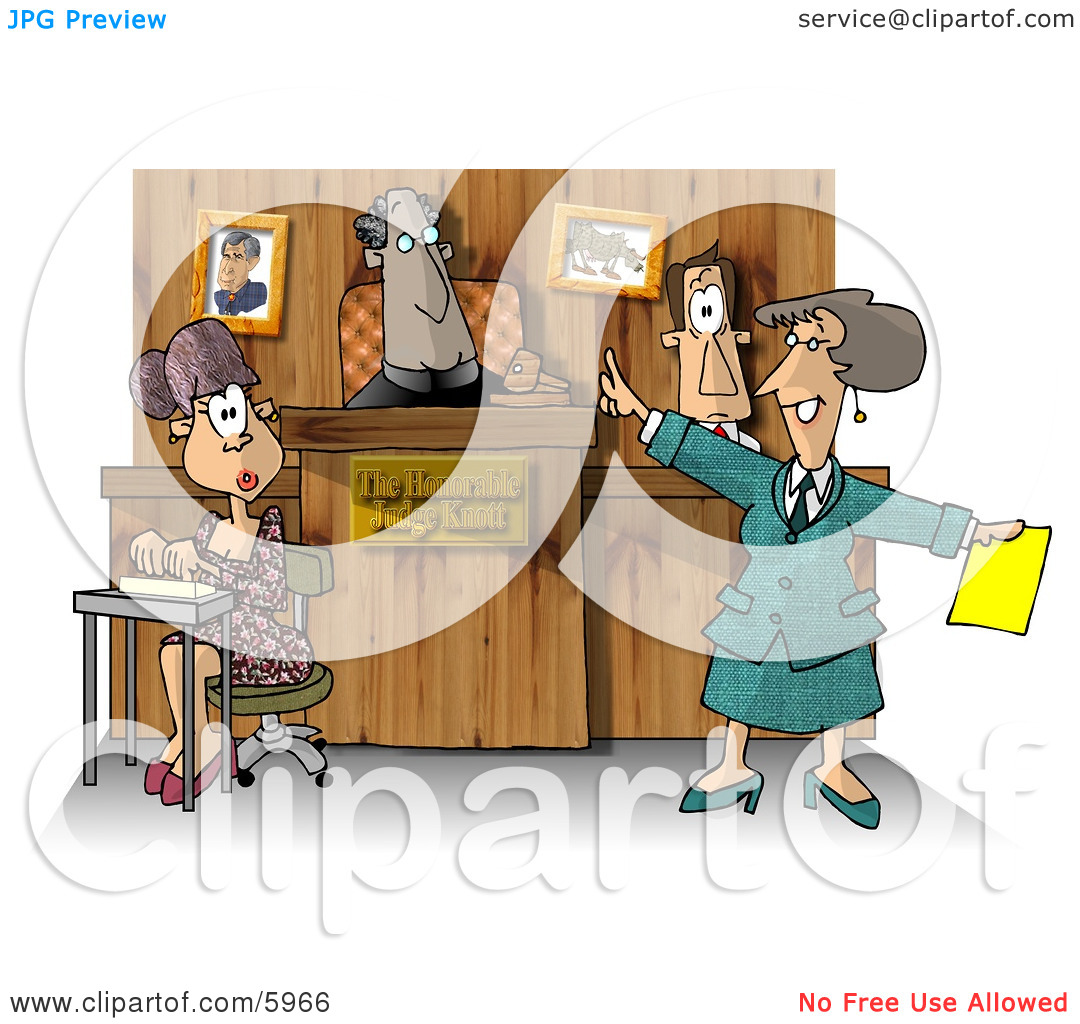 Man and woman clipart witnesses.