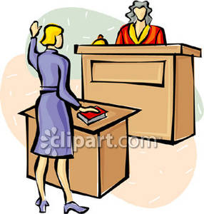 Witness In Court Clipart.