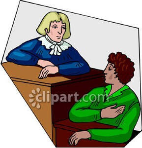 Trial Witness Clipart.
