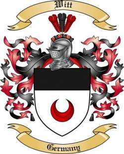 Witt Family Crest from Germany by The Tree Maker.