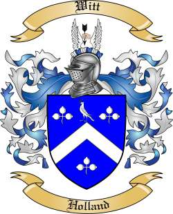 Witt Family Crest from Holland by The Tree Maker.