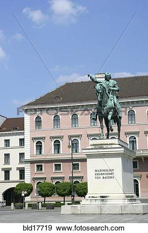Stock Photograph of Wittelsbacher Square with Memorial Elektor.