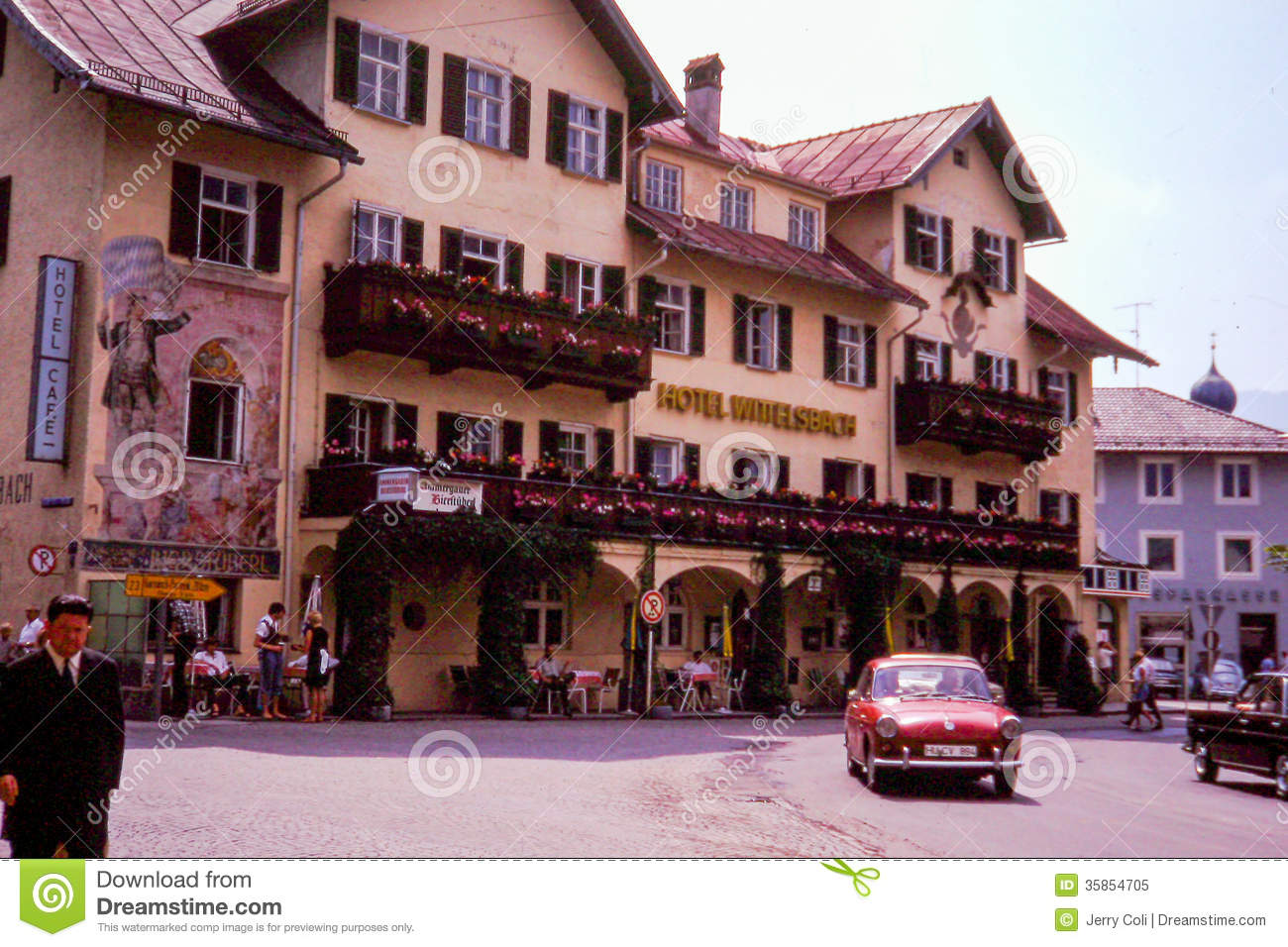 Hotel Wittelsbach, Berchtesgaden, Germany Editorial Image.