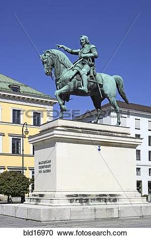 Stock Photography of Germany Bavaria Munich Wittelsbacher Square.