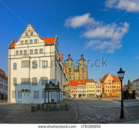 Castle Castle Church Luther City Wittenberg Stock Photo 76152763.
