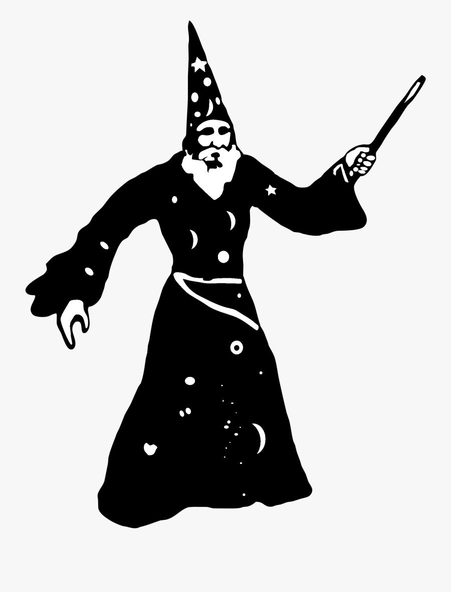 Wizard Logo Black And White.