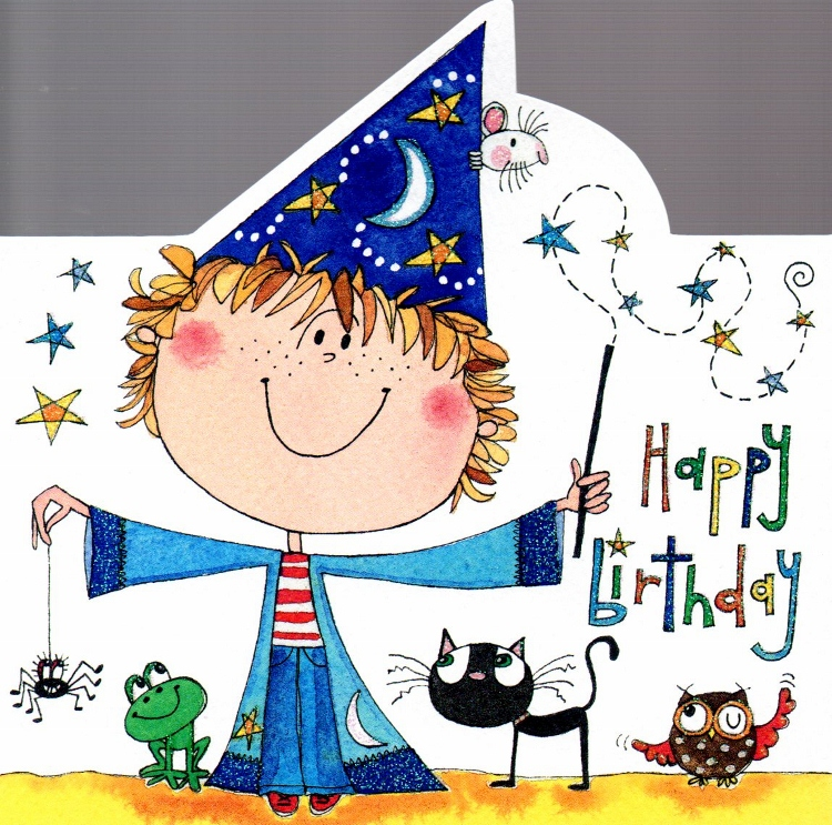 Card Genie: Birthday Cards, Wizard boy.