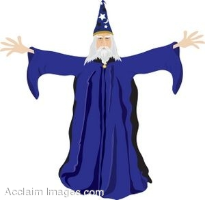 Clip Art of an Old Wizard.