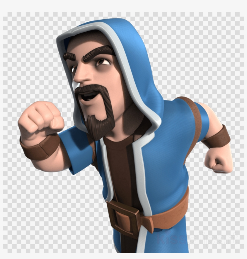 Download Clash Royale Wizard Png Clipart Clash Of Clans.