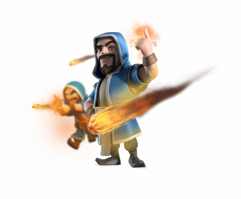 Clip Art Library Download Of Clans Wizard Png Image.