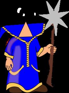 Headless Blue Wizard Clip Art at Clker.com.