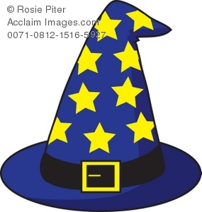 Royalty Free Clipart Illustration of a Wizard's Hat With Stars.