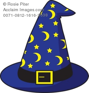 Royalty Free Clipart Illustration of a Wizard's Hat.