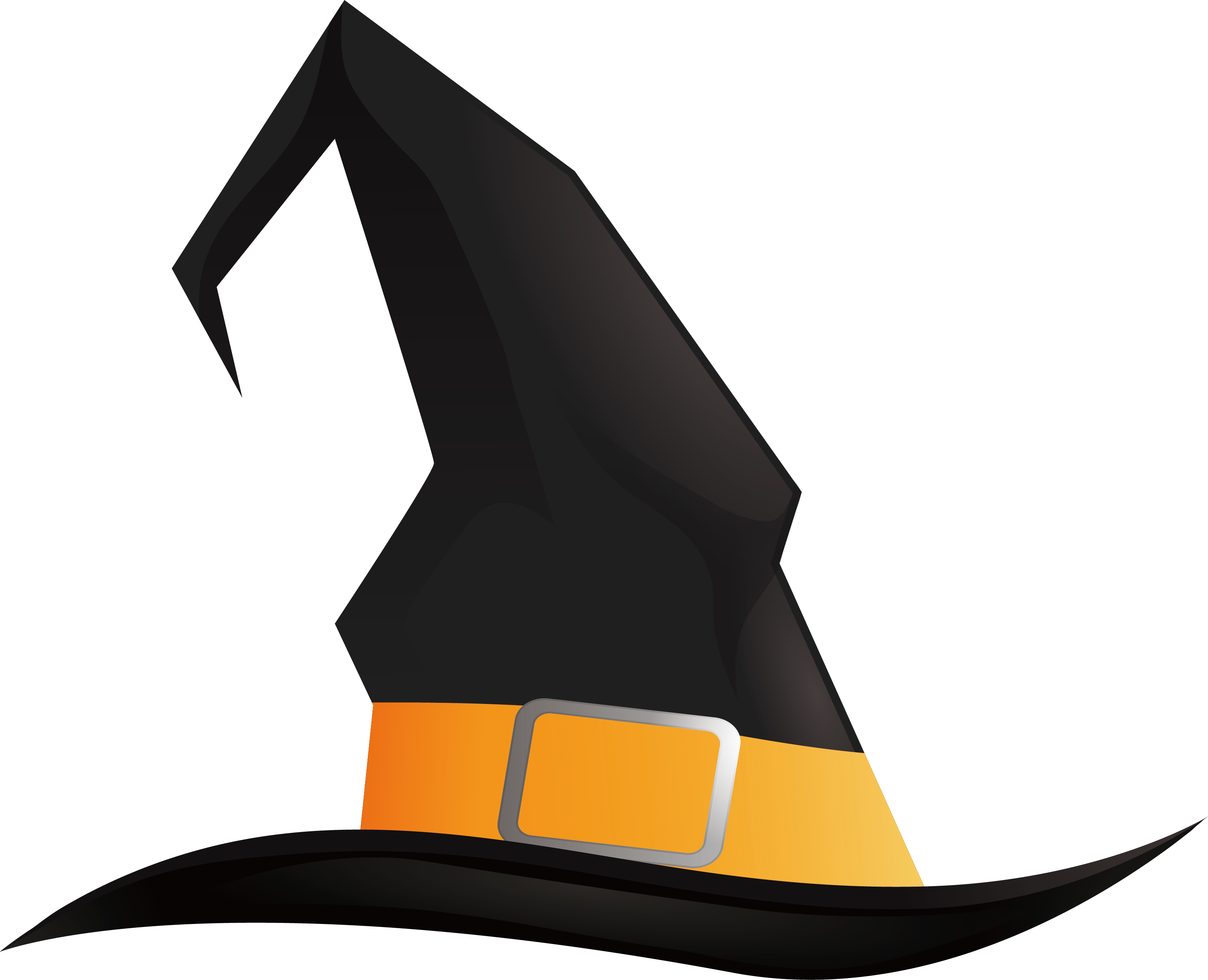 Witch hat Halloween Pointed hat.