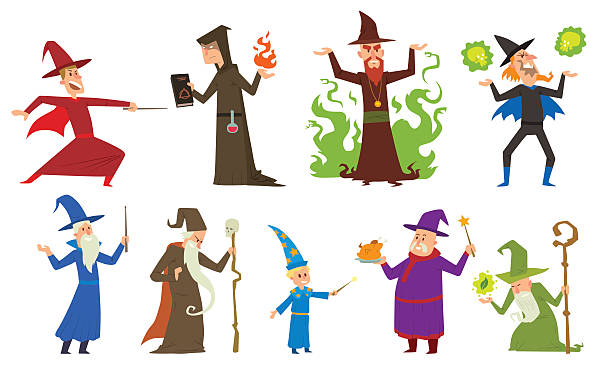 Best Wizard Illustrations, Royalty.
