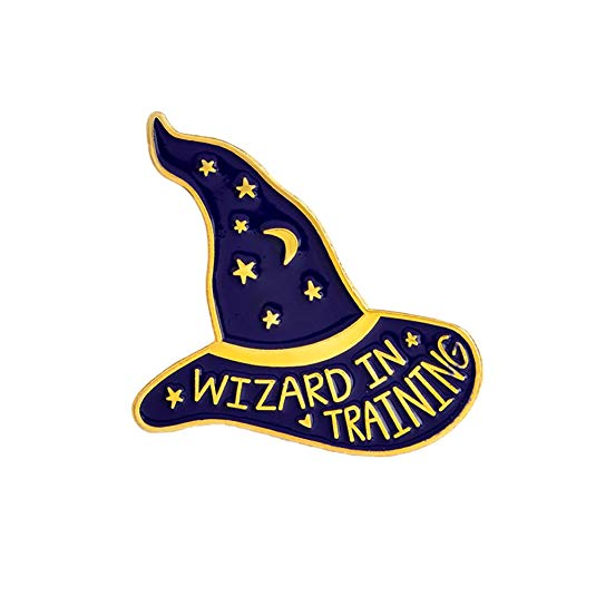 Amazon.com: Witch Wizard Hat Brooch WIZARD IN TRAINING.