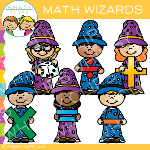 Math Wizards Clip Art.