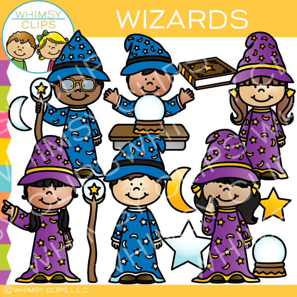 Wizard kids clip art , Images & Illustrations.