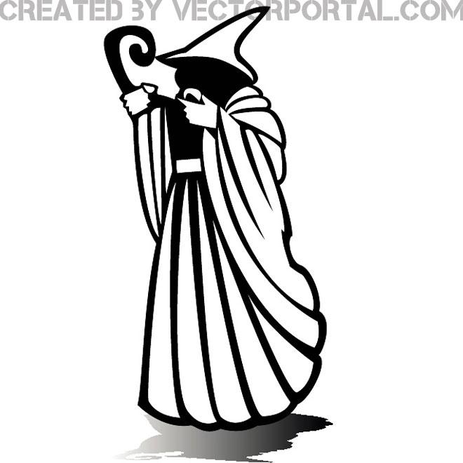 Wizard Clip Art Graphics Free Vector.