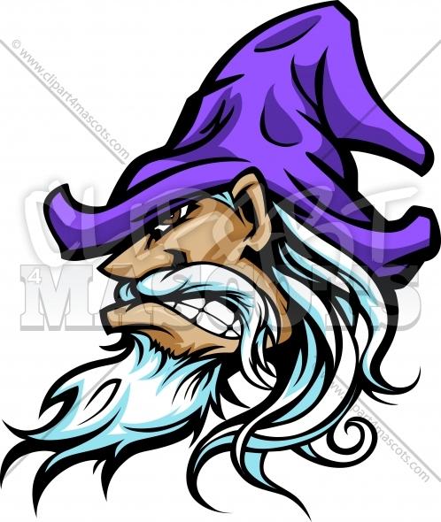 Wizard Mascot Graphic Vector Logo.