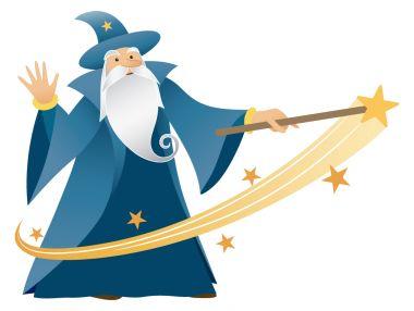 Oxford Blue Wizard logo.
