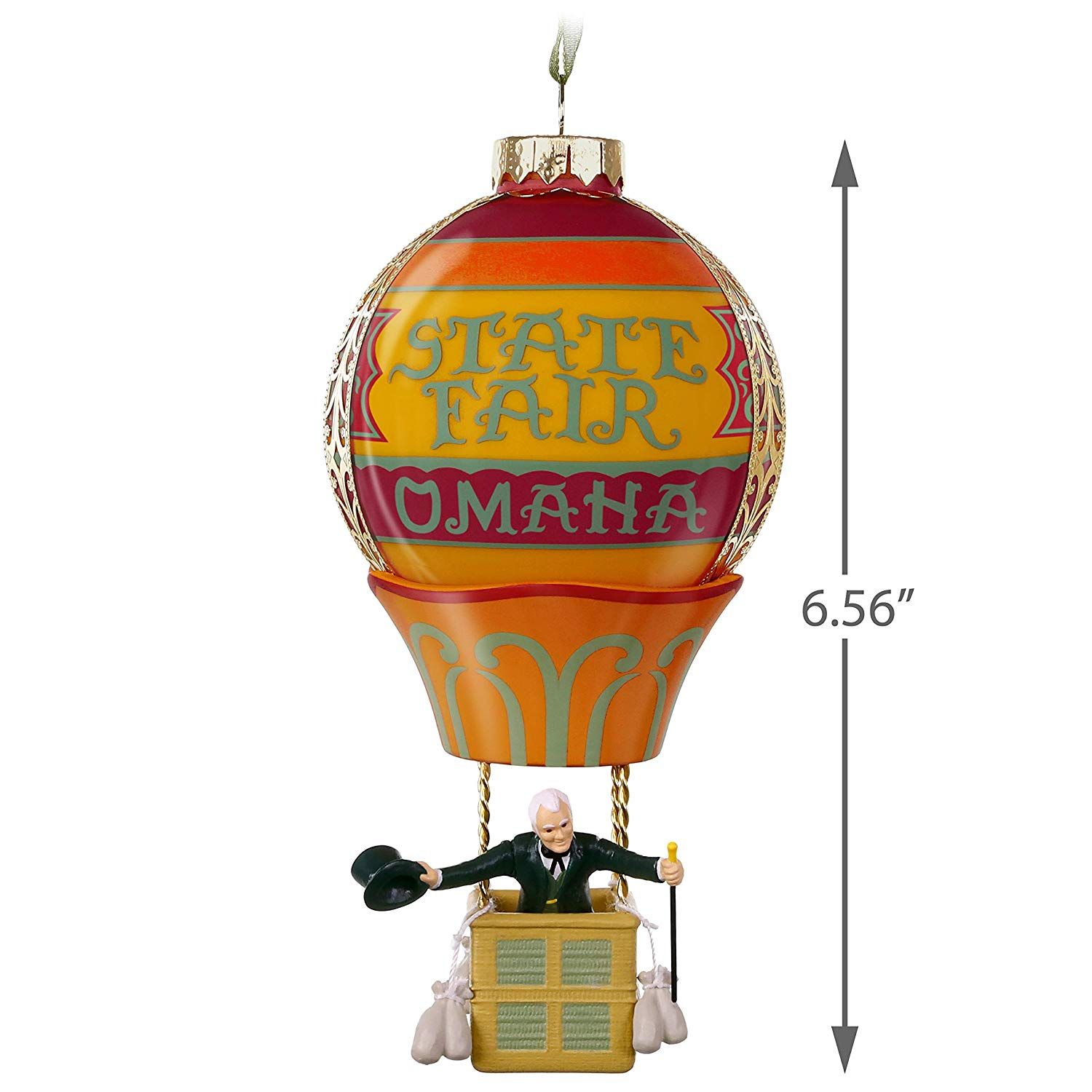 Hallmark Keepsake Christmas Ornament 2019 Year Dated The The Wizard of Oz  Up, Up and Away Hot Air Balloon, Glass and Metal, Up Up and.