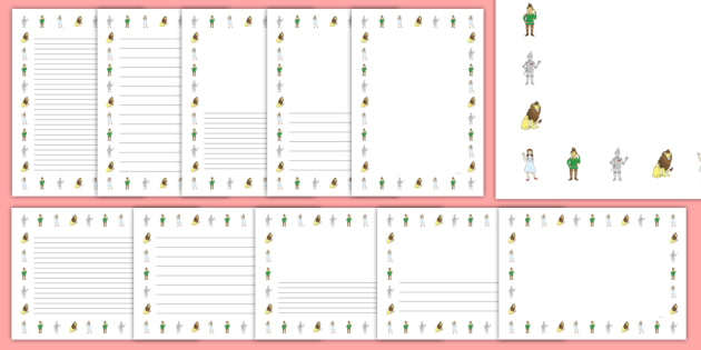 Wizard of Oz Page Borders.