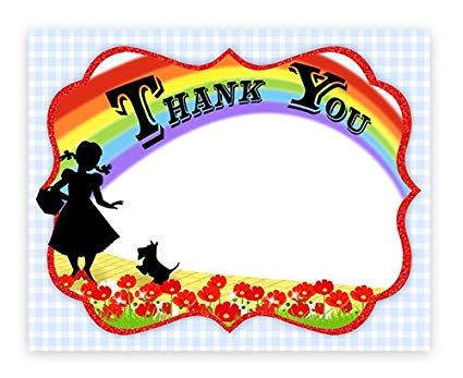 Wizard of Oz Thank You Cards.
