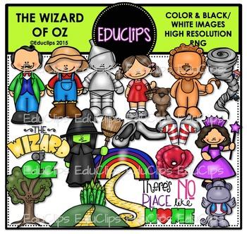 The Wizard Of Oz Clip Art Bundle {Educlips Clipart}.