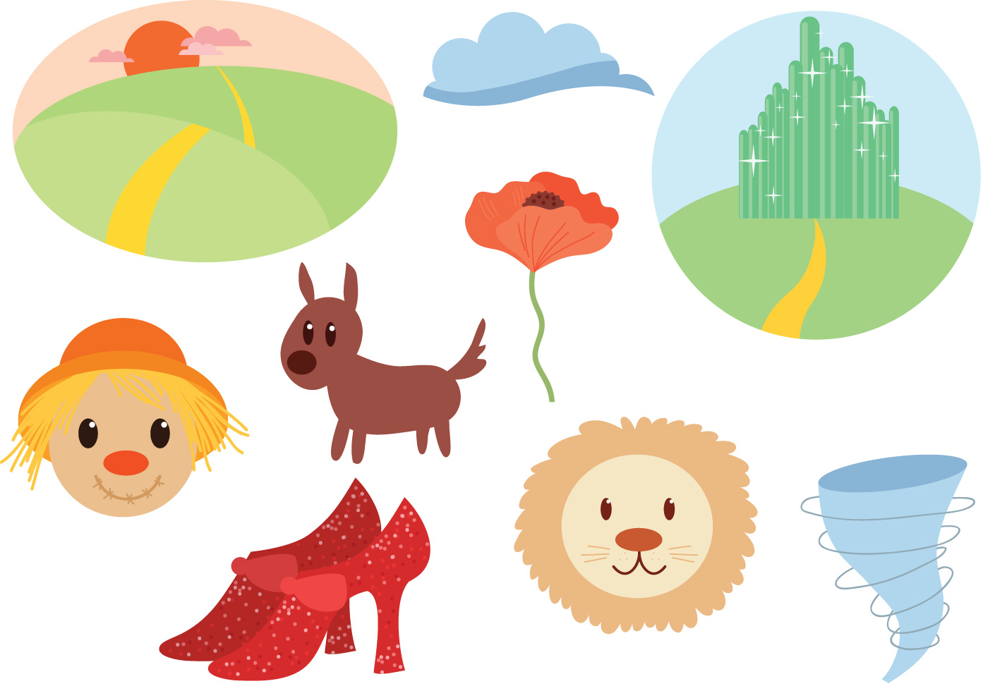 Wizard Of Oz Free Vector Art.