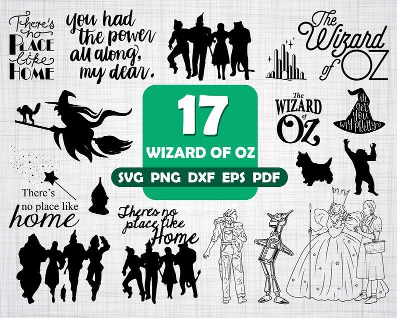 WIZARD of OZ SVG, wizard of oz, wizard of oz clipart, dorothy svg, svg  files, wizard, witch svg, wizard oz cricut, wizard oz, silhouette svg.